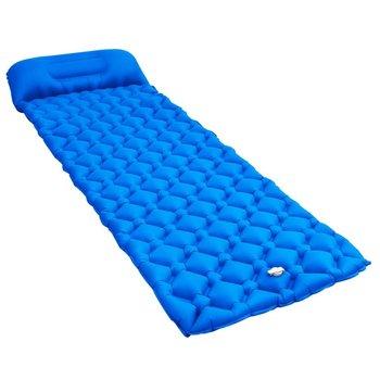 VidaXL, Dmuchany materac z poduszką, niebieski, 58x190 cm-vidaXL