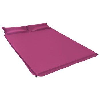 VidaXL, Materac dmuchany z poduszką, różowy, 130x190 cm-vidaXL