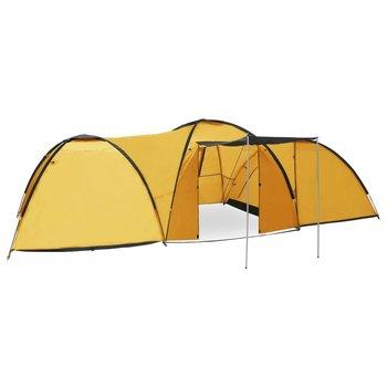 VidaXL, Namiot turystyczny typu igloo, 650x240x190 cm, 8-os., żółty-vidaXL