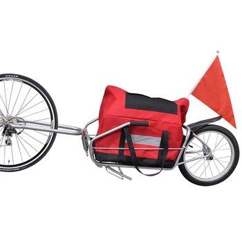 VidaXL, Przyczepa do roweru z torbą, czerwony, 143x42x41 cm-vidaXL