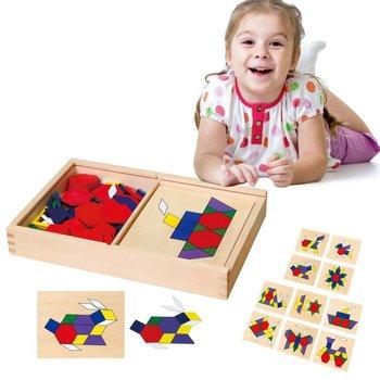 Viga Toys, zabawka edukacyjna Mozaika Geometryczna-Viga