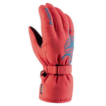 Viking, Rękawice narciarskie, damskie, wodoodporne, ocieplane, Mallow, czerwony, rozmiar 5-Viking