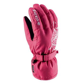 Viking, Rękawice narciarskie, damskie, wodoodporne, ocieplane, Mallow, różowy, rozmiar 5-Viking