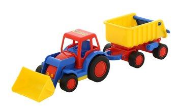 Wader, pojazd budowlany traktor-ładowarka z przyczepą-Wader