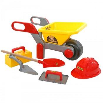 Wader, taczka z akcesoriami budowniczymi-Wader Quality Toys