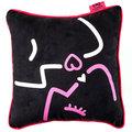 Walentynki, Poduszka dekoracyjna, czarna, 30x30 cm-Empik