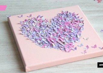 Walentynkowe serce z motyli - stwórz obraz uskrzydlonej miłości