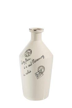 Wazon Ceramiczny DARIO, EUROFIRANY, kremowy, 13x13x29 cm-Eurofirany