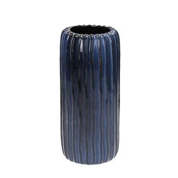 Wazon DEKORIA Aquarel I, granatowy, 10,5x24 cm-Dekoria
