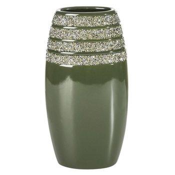 Wazon GLOW 18,5X12,2X35 oliwkowy + srebrny-Eurofirany