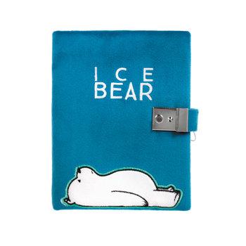 We Bare Bears, pamiętnik pluszowy, Ice Bear, niebieski-We Bare Bears