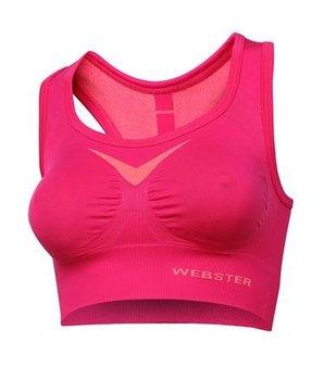 Webster, Biustonosz sportowy, Crop Top Function, różowy, rozmiar S-WEBSTER