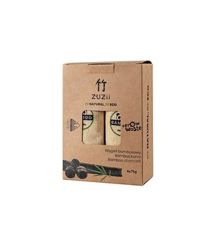 Węgiel bambusowy, osuszacz powietrza, pochłaniacz wilgoci i zapachów, 4x75 g, Zuzii-Zuzii