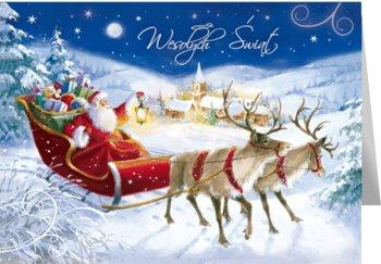 Wesoła kartka świąteczna z życzeniami B-T 587-Czachorowski