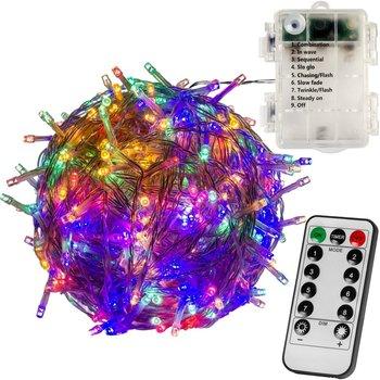 WIELOKOLOROWE LAMPKI CHOINKOWE 100 LED NA BATERIE + PILOT-VOLTRONIC ®