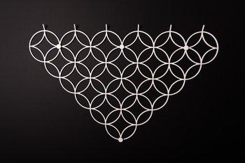 Wieszak ścienny Holo M - Biały-Polyhedra
