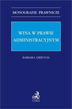 Wina w prawie administracyjnym-Giertych Barbara