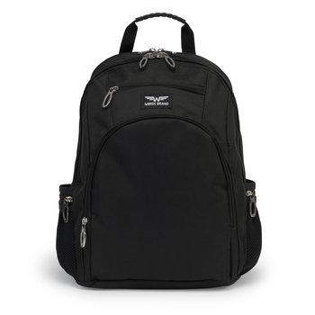 Wings, Plecak szkolny z piórnikiem, czarny, 16L-Wings