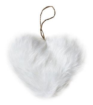 Winter Charm, Zawieszka ozdobna, serce, biała, 12x10 cm-Empik