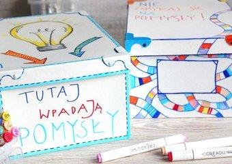 Własnoręcznie zdobione pudła - pokoloruj je pisakami CREADU