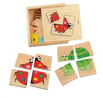 Woody, puzzle Zwierzaki, 4 elementy-Woody