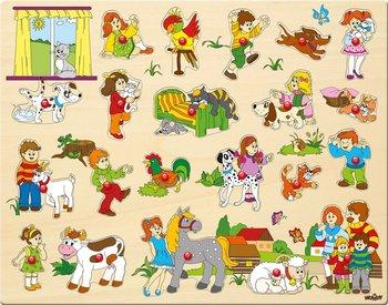 Woodyland, układanka Dzieci i ich zwierzaki-Woodyland