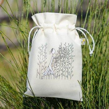Woreczek bawełniany na drobiazgi - Buszująca w zbożu - mały 15x22 cm-Ilustris