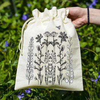 Woreczek podróżny - zioła - średni 23x30 cm-Ilustris