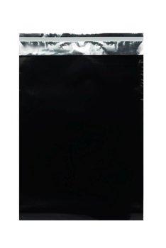Woreczki metalizowane, 320x430+50mm czarne
