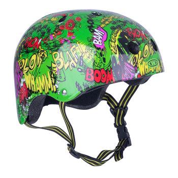 Worker, Kask rowerowy dziecięcy, Freestyle Komik, zielony, rozmiar 48-52-WORKER