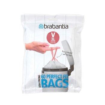 Worki na śmieci BRABANTIA PerfectFit Bags, rozmiar V, 3 l, 60 szt.-BRABANTIA
