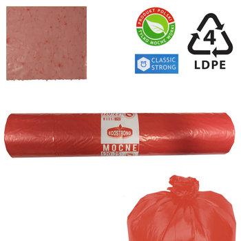 Worki na śmieci czerwony 26mik LDPE 120l 25szt-Sipeko