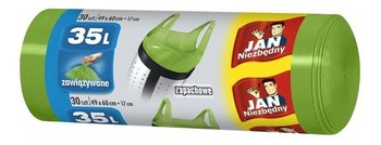 Worki na śmieci zapachowe JAN NIEZBĘDNY, zielone, 35l, 30 sztuk-Sarantis