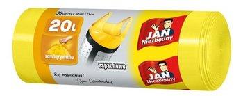 Worki na śmieci zapachowe JAN NIEZBĘDNY, żółte, 10l, 30 sztuk-Sarantis