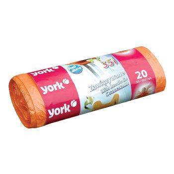Worki na śmieci zawiązywane YORK, 35 l, 20 sztuk-York