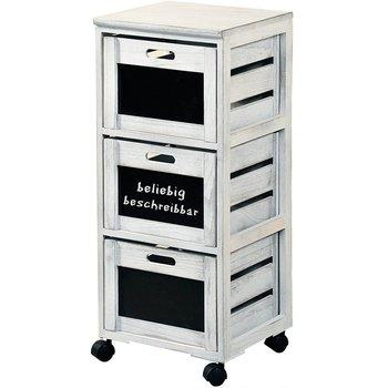 Wózek kuchenny biały, 3 szuflady, KESPER-Kesper