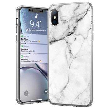 Wozinsky Marble żelowe etui pokrowiec marmur iPhone 11 Pro biały - Biały-Wozinsky