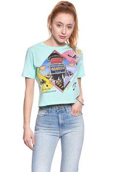 Wrangler, T-shirt damski, Crop Tee Beach Glass W7382Evwd, rozmiar S-Wrangler