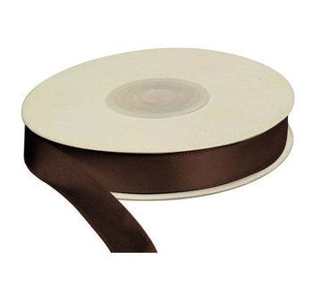 Wstążka brązowa, 25m dł x 12mm szer, CRAFT-FUN - brązowy-Titanum