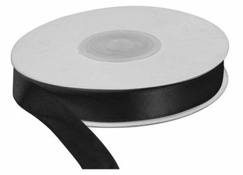 Wstążka czarna 25m dł x 12mm szer, CRAFT-FUN - czarny-Titanum