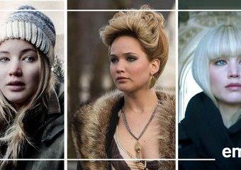 Wszystkie twarze Jennifer Lawrence