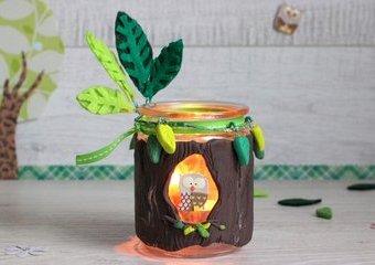 Wykonaj lampion w formie drzewka - wyczaruj w domu leśną atmosferę