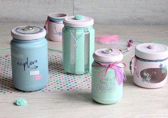 Wykonaj pastelowe pojemniki w bajkowym klimacie.