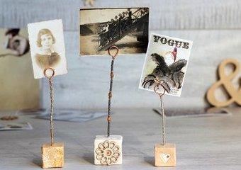 Wykonaj stojaki na zdjęcia - stwórz oryginalną ekspozycję na glinianych kostkach