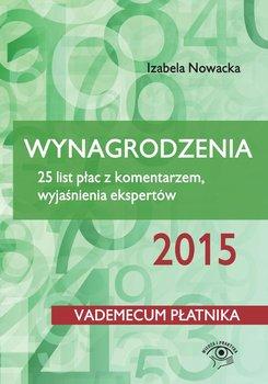 Wynagrodzenia 2015. 25 list płac z komentarzem, wyjaśnienia ekspertów-Nowacka Izabela