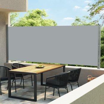 Wysuwana markiza boczna na taras, 600 x 170 cm, szara-vidaXL