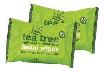 Xpel, Tea Tree, odświeżające chusteczki do twarzy, 2x25 szt.-Xpel