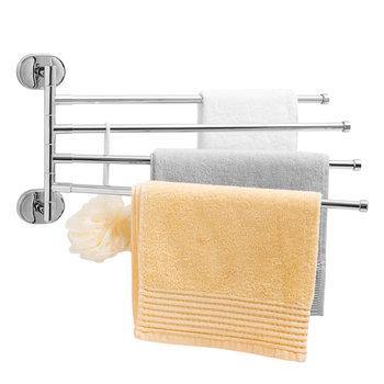 Yoka, Wieszak na ręczniki do łazienki, ścienny chrom-Yoka Home