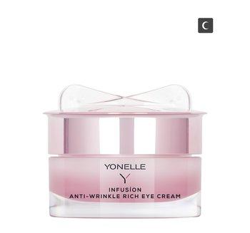 Yonelle, Infusion, przeciwzmarszczkowy krem odżywczy pod oczy na noc, 15 ml-Yonelle