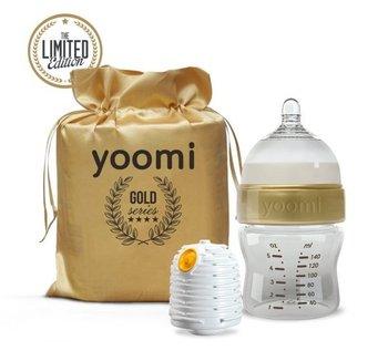 Yoomi, Butelka i podgrzewacz, zestaw, 140 ml, Gold-Yoomi